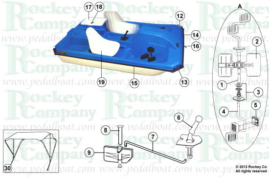 Pelican Paddle Boat Replacement Parts : Parts from pedalboat